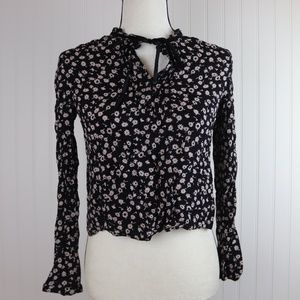 Cooperative Cropped Button Up Blouse Sz Small